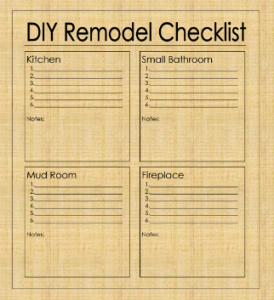 home improvement checklist